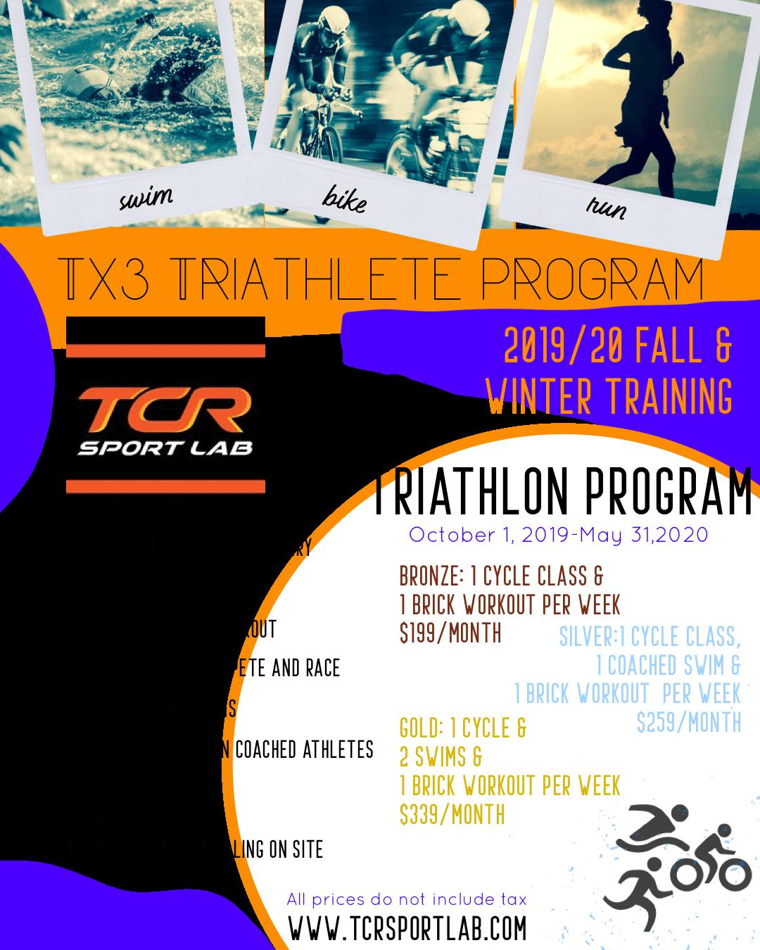 TX3 TRIATHLON PROGRAM - TCR